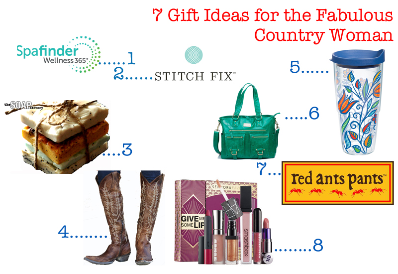 Christmas Gift Ideas for the Fabulous, Country Woman - Messy Kennedy