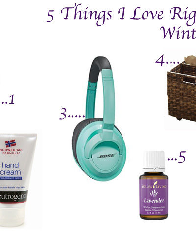 5 Things I Love for Winter
