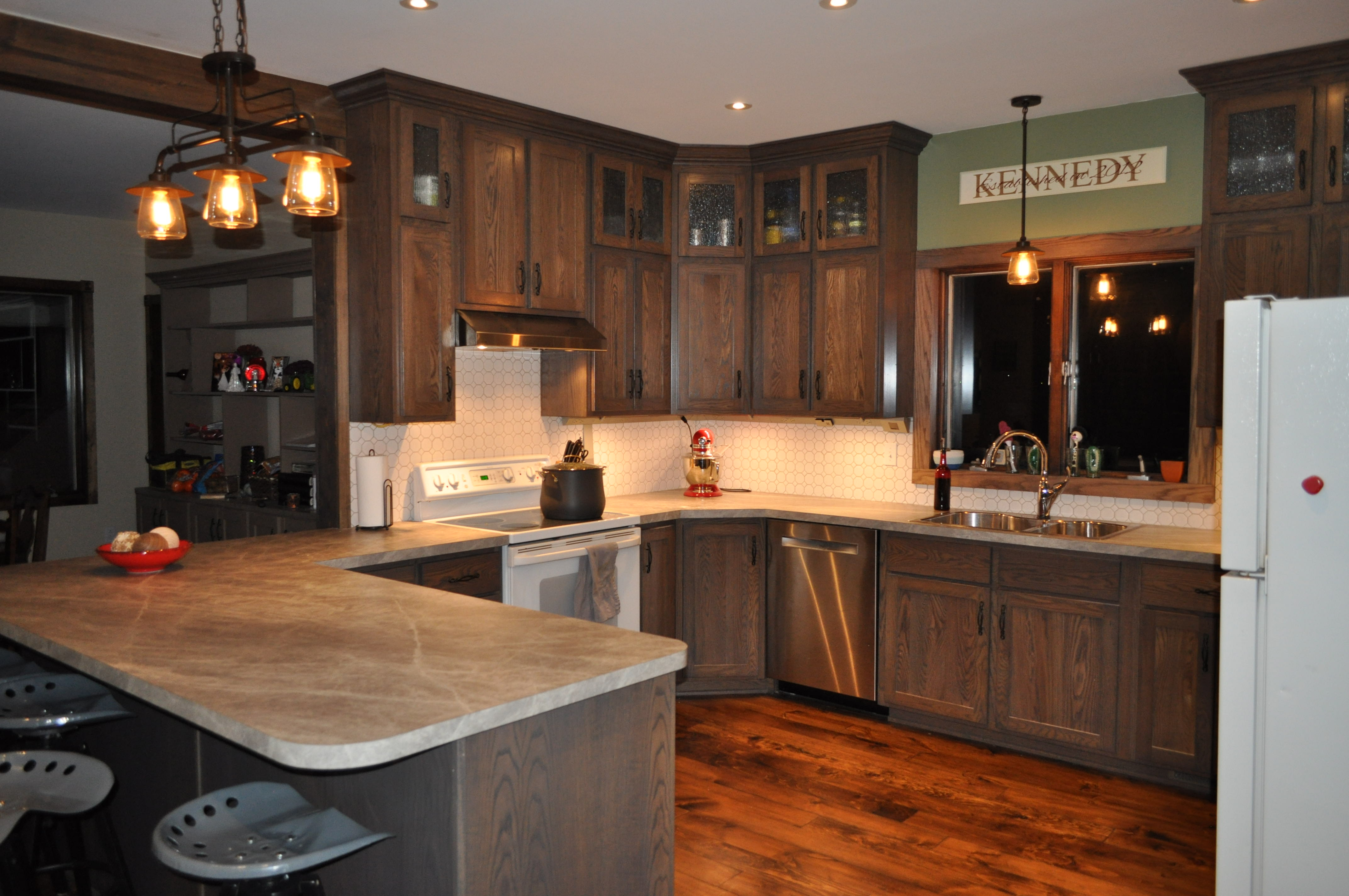 From Dated to Rustic Modern: Kitchen Remodel - Messy Kennedy