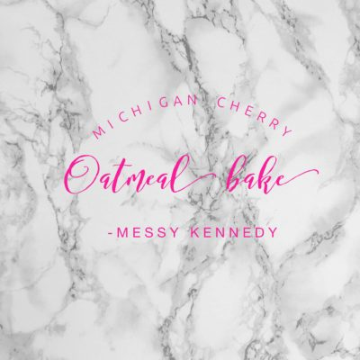 Michigan Cherry Oatmeal Bake