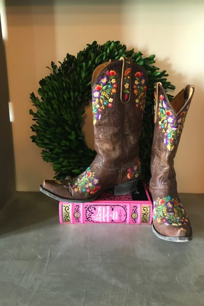 Spring Weather and Cowgirl Boot Decor